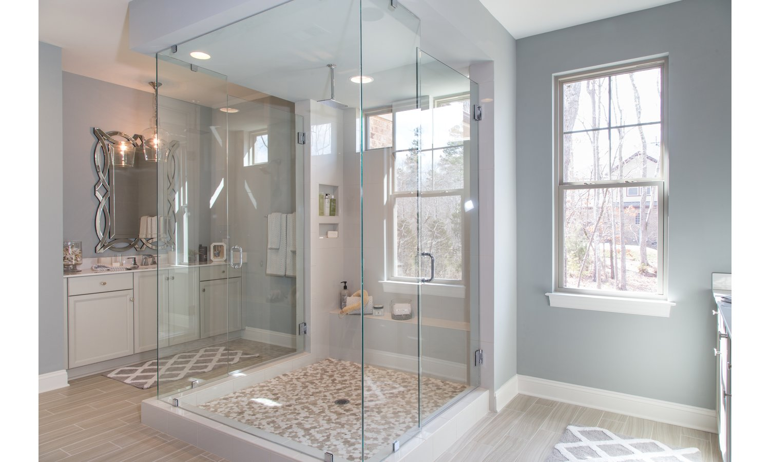 Monterey - Jewel Box Shower in Master Bath