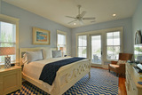 Master King Bedroom Upstairs with Private Bath overlooking Pool/Ocean